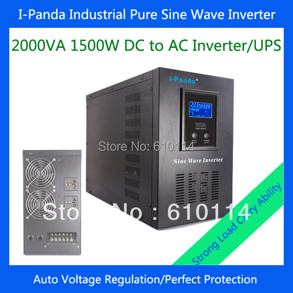 I-P-XD-2000VA 1500W inverter battery charger sine wave power inverter for off grid power system(China (Mainland))