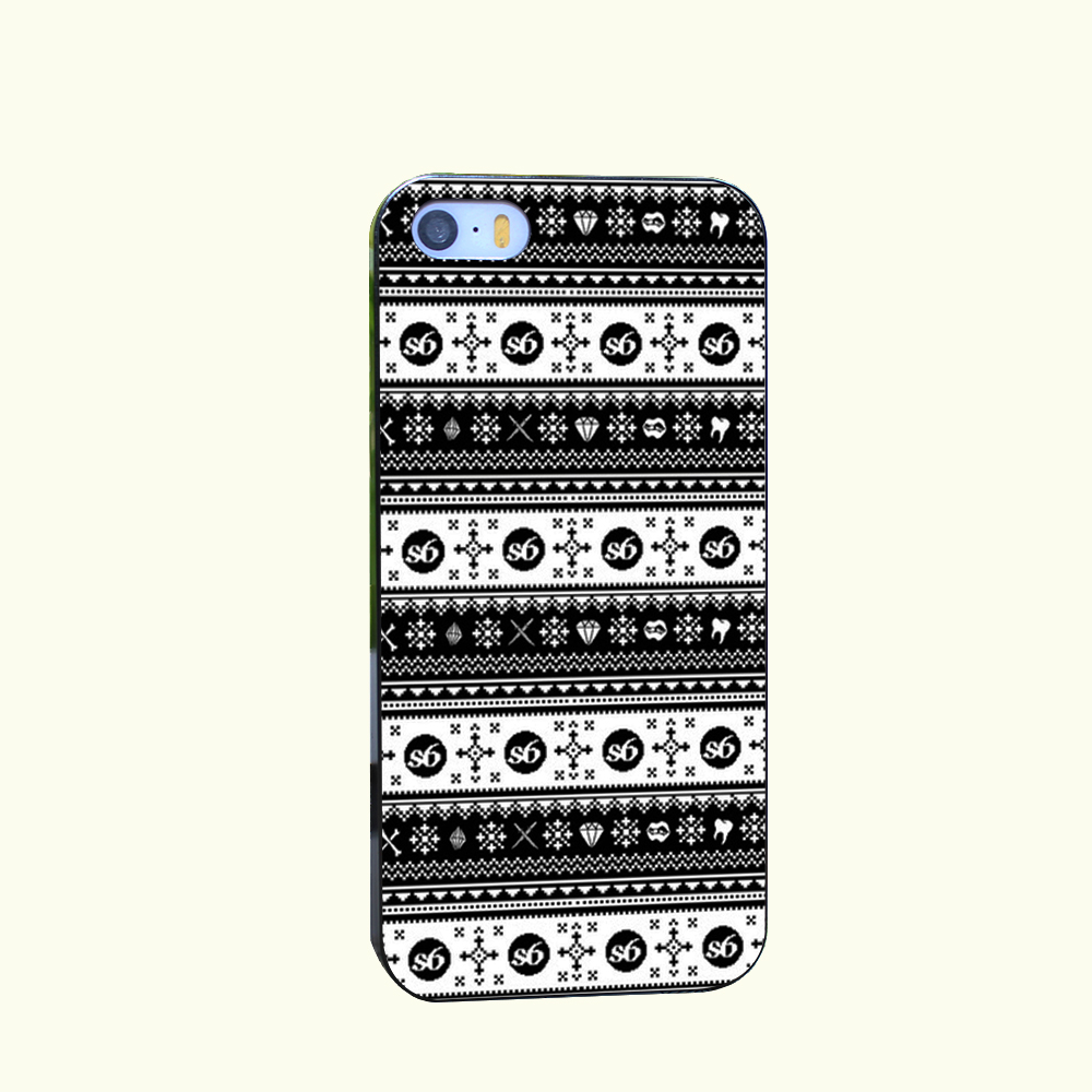 Ugly Sweater Society6 Style Hard Cover for iPhone 4 4s 5 5s 5c 6 6s Plus