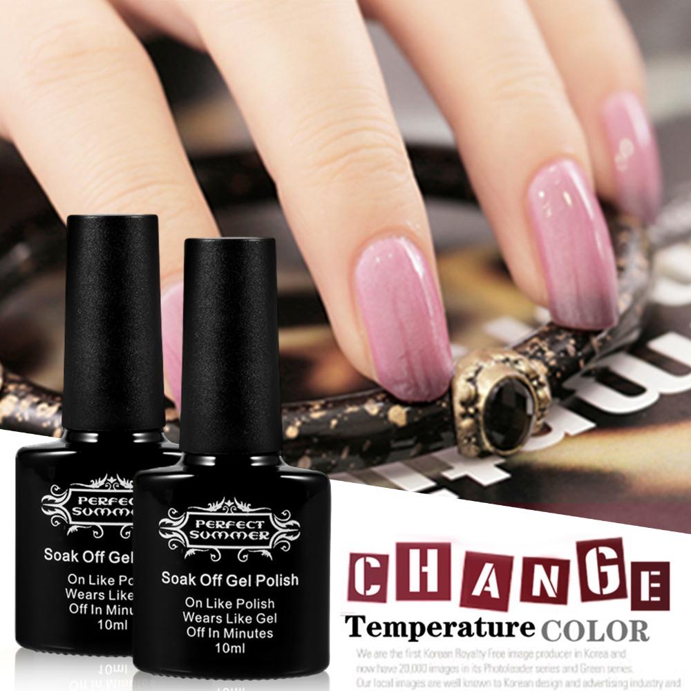 Perfect Summer Nail Gel Polish Temperature Color Change Gel UV 10ml Gel Nail Polish LED Long Lasting Nail Gel(China (Mainland))