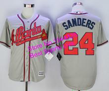 Deion Sanders Jerseys for Men,Atlanta Braves #24 Deion Sanders white,red,black,gray,cream Jerseys stitched Baseball jerseys(China (Mainland))