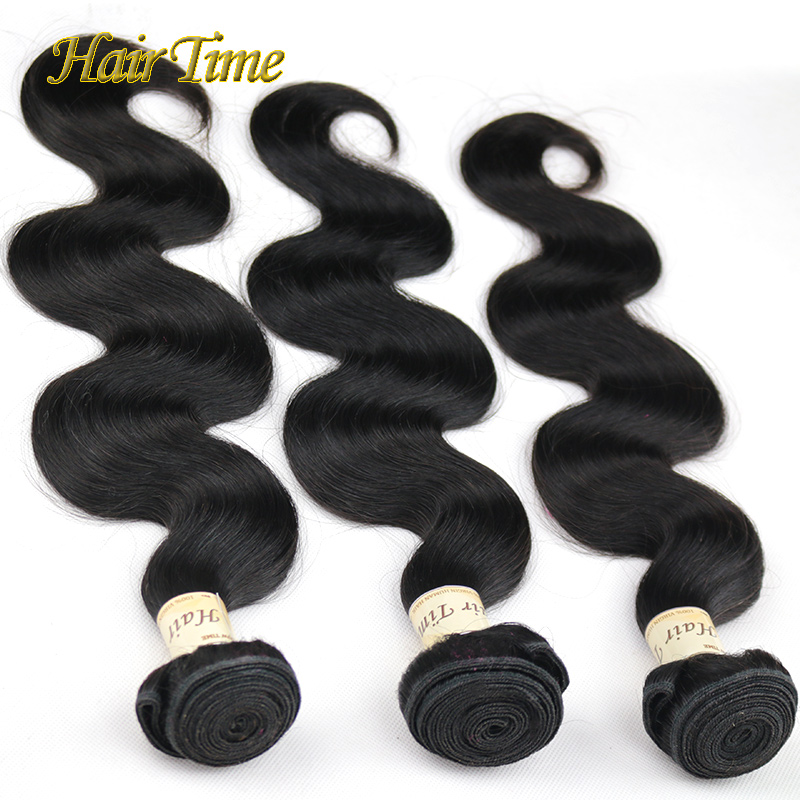 Hair Time Brazilian Body Wave 3Pcs Lot 100% Human Hair Weave Queen Hair Products Brazilian Virgin Hair Body Wave Brazilian Hair