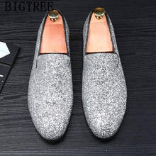 Обувь для вечеринок; Мужские классические блестящие лоферы; Мужская обувь золотого цвета; Свадебная обувь; Элегантная обувь для мужчин; 2020; ...(China)