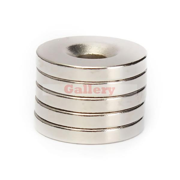 2015 Hot Sale Promotion Neodymium Magnet Aimant 5pcs N50 Strong Round Countersunk Magnets 20x3mm Rare Earth Neodymium Hole 5mm <br><br>Aliexpress