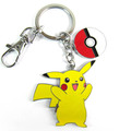 Cartoon toy figures Pikachu Keychains kawaii Pendants jewelry kids toys keyring Christmas Gifts