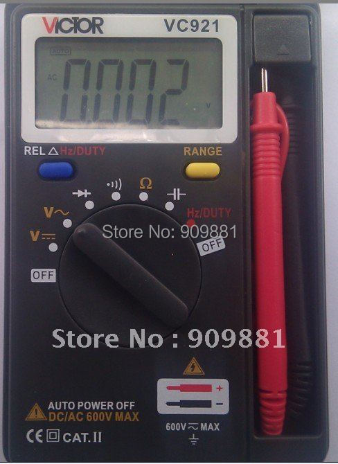 100% original Mini Victor VC921 3 3/4 Pocket Digital Multimeter  free shipping<br><br>Aliexpress