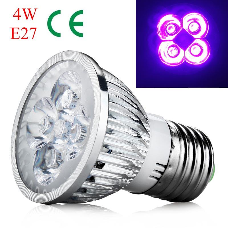 4W E27 Base UV Ultraviolet  LED Spotlight Bulb Home Lamp Bulb AC 85-265V High Quality