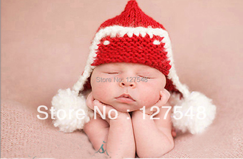 New Cute Baby Infant Fox Hand Knitted Costume Photo Photography Prop Newborn Baby Outfits & Sets Free Shipping(China (Mainland))