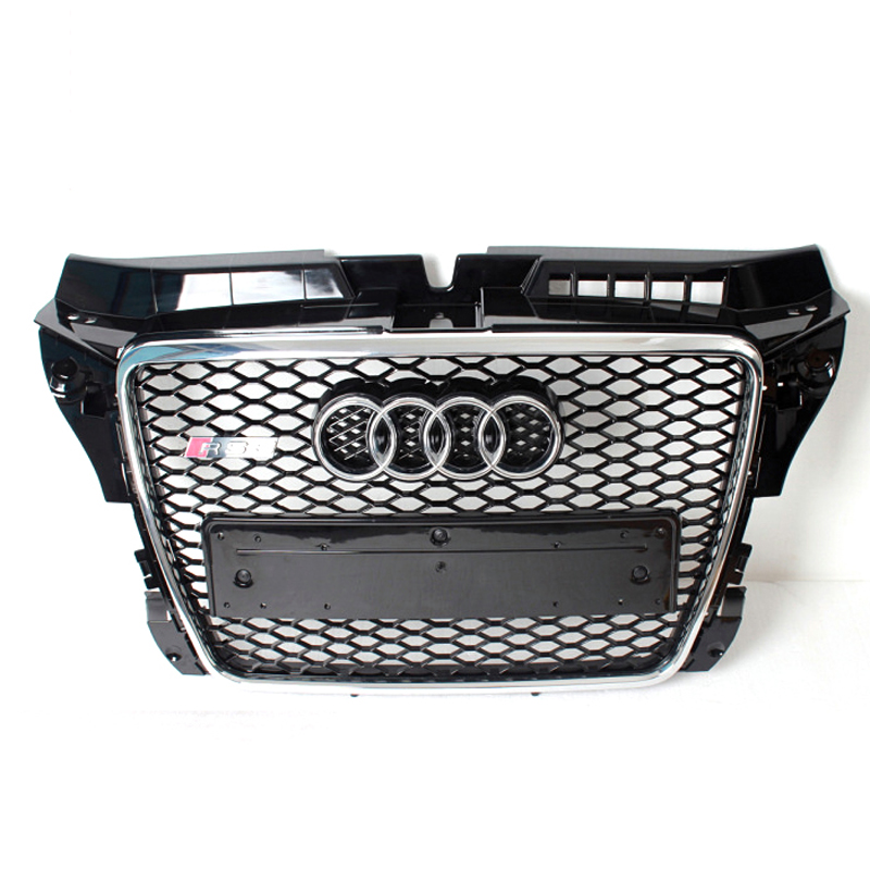 A3 RS3 Style Chrome Frame Black Painted Front Bumper Grill Gride For Audi A3 2006-2012(China (Mainland))