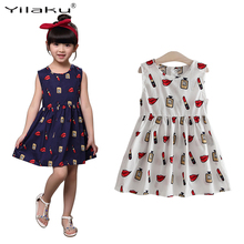 Buy New 2017 Summer Girl Dress Sleeveless Casual Pirnt Baby Girls Dress Children Clothing Kids Princess Dresses 3-8 Years Old CA458 for $5.72 in AliExpress store