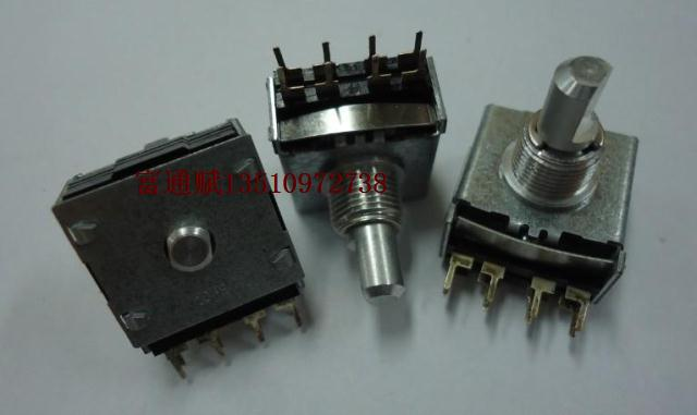 [BELLA]Original South Korea imported two rows of eight feet encoder 24 15MMF encoder rotary switch gear--10PCS/LOT(China (Mainland))