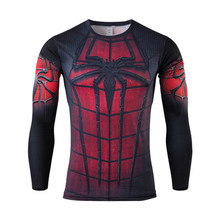 Men Crossfit Long Sleeve Compression Shirt Marvel 3D Superhero Superman T Shirt Tights Gym Fitness Men Tops & Tees