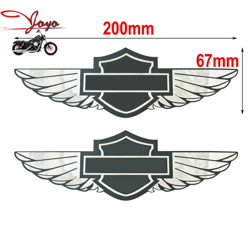 Motorcycle Gas Tank Decals Sticker For Harley Sportster Dyna Touring Softail Fat Boy Deluxe Cross Bones Heritage(China (Mainland))