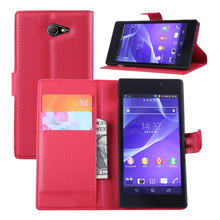 Buy Luxury Book Style Leather Flip Case Sony Xperia M2 Aqua D2403 Coque Capas Sony Xperia M2 Aqua Cover Wallet & Stand for $3.32 in AliExpress store