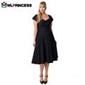 Owlprincess Summer ladies Plus size party Dresses solid strap Dress for Women short sleeve fashion long