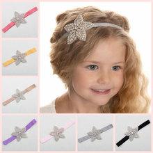 Buy Children Baby Girls Rhinestone Flower Star Headband Hair bands Kids Girls wedding Party Hair Accessories Princess Headwear HB003 for $1.60 in AliExpress store