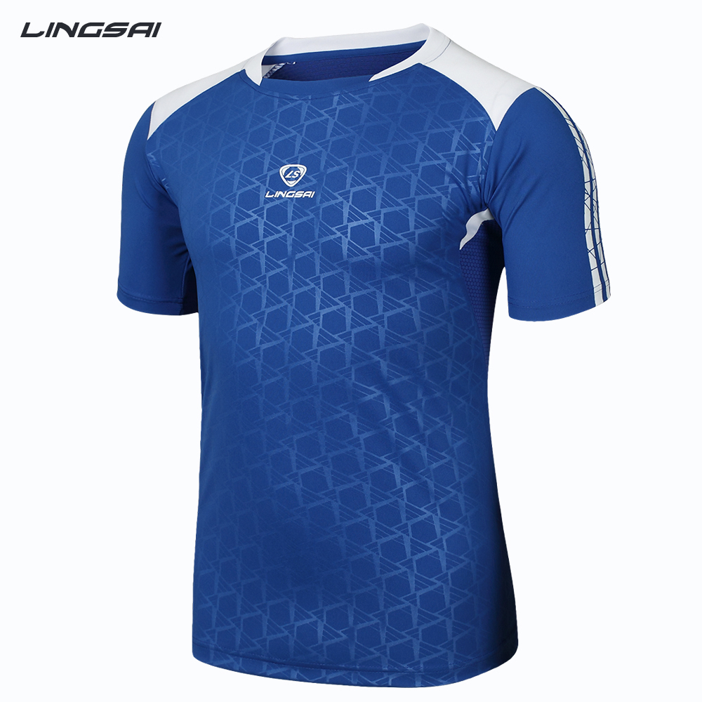 LINGSAI Men's Brand Logo T-shirt Sport outdoor Quick-drying Fabric Tops Tees Limited cheap Tops & Tees Plus size M-3XL wholesale(China (Mainland))