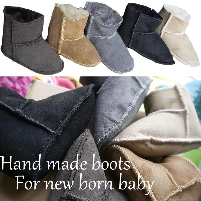 Hand Made Winter Baby Snow Boots For Boy Girl Shoes Fur Knitted Wool Thicken Warm Toddler Kids Shoes Newborn Baby Infant