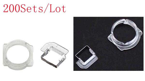 (5G1002200AM)(200Sets/Lot)100% High Quality Guarantee for iPhone 5 5C 5S Light Sensor&Front Camera Bezel Clip Ring Bracket
