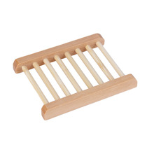 Natural Wood Soap Tray Holder Dish Box Case Storage Novelty Shower Wash New Free Shipping  New Arrival(China (Mainland))