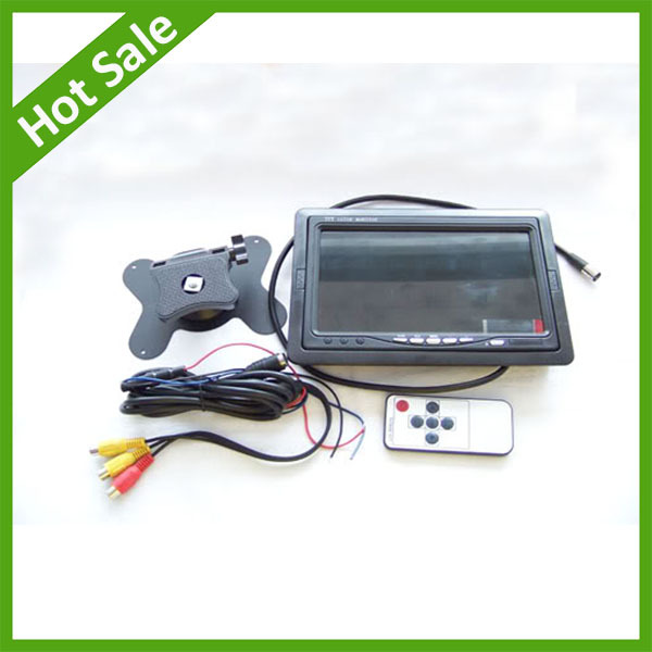 Free shipping 7 inch LCD Screen Car Headrest TV Monitor rear view mirror monitor available for VCD/DVD(China (Mainland))