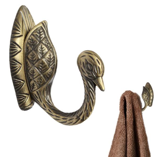 2015 New Hot Sale Convenient Retro Bronze Best Quality Alloy Hook Hanger Hat Door Wall Clothes Towel Bath Max 3KG(China (Mainland))