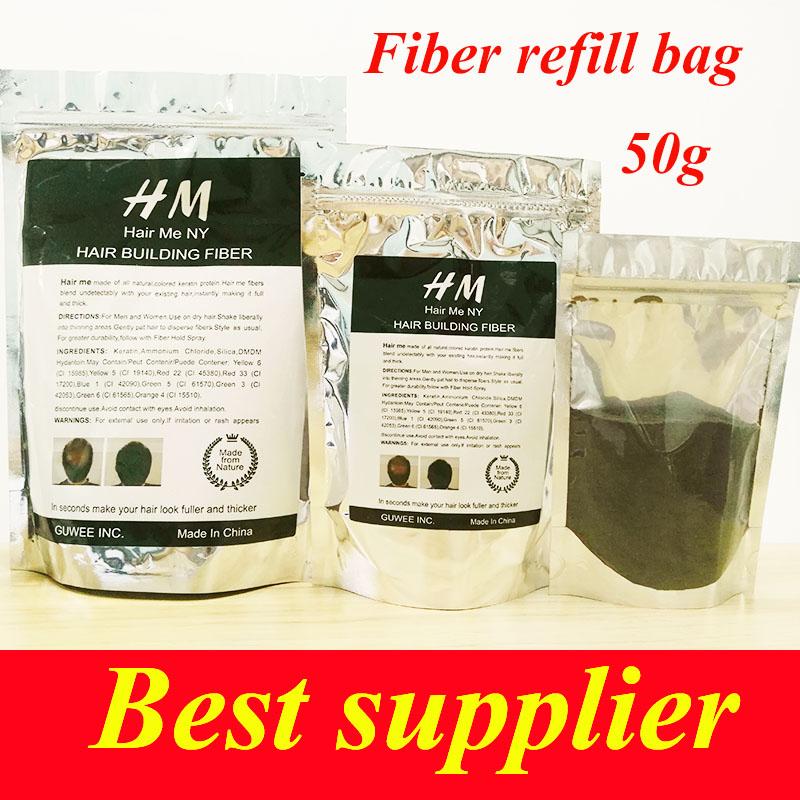 TOPPIK instant hair fiber powder magic hair organic plant fiber type hair building powder 50g 9 color(China (Mainland))
