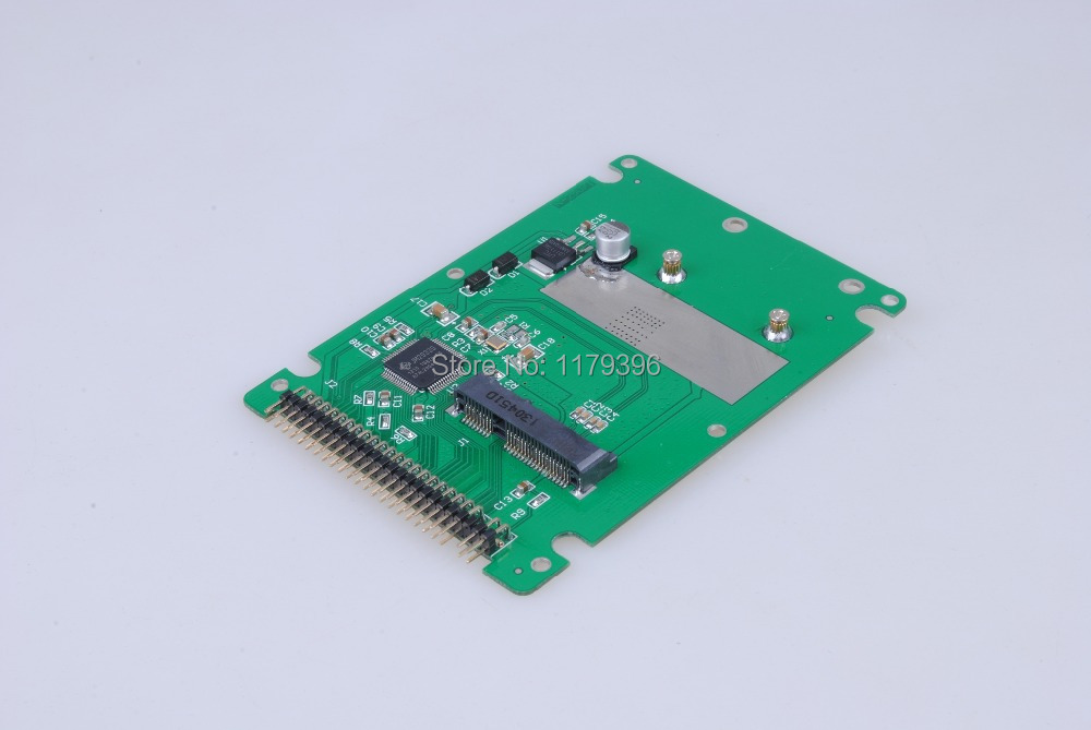 mSATA mini PCI-E SATA SSD to 2.5 inch IDE 44pin Notebook Laptop hard disk case Enclosure White Free Shipping(China (Mainland))