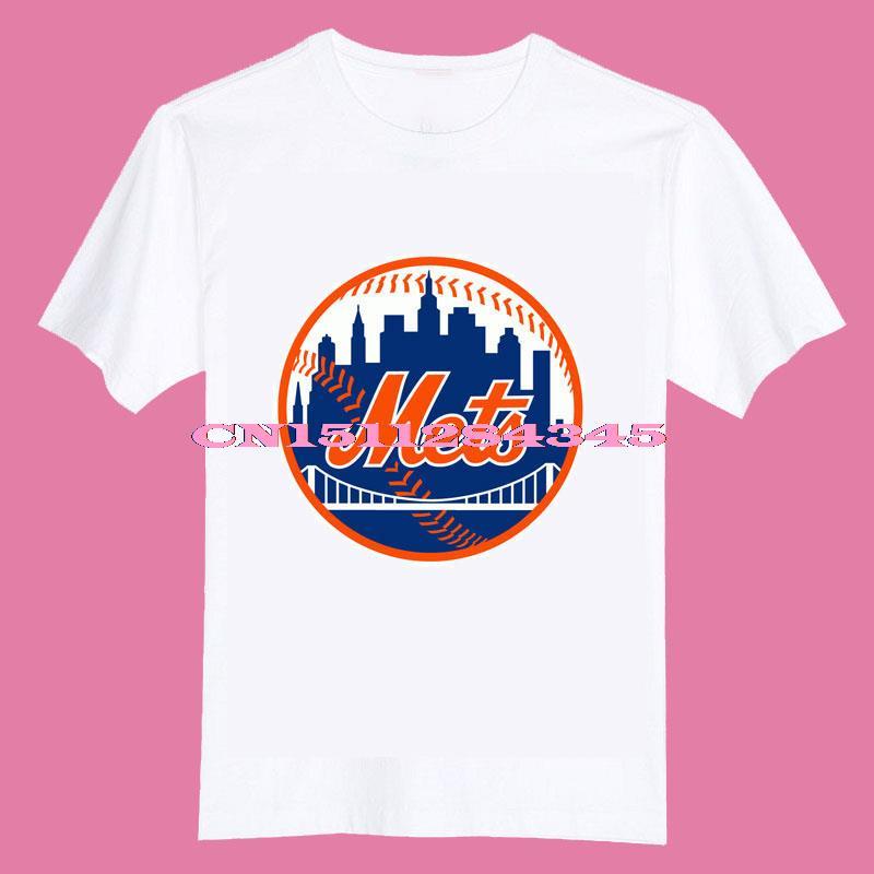 2015 New york mets logo Kids children girls boys O Neck Cotton Camiseta Camisetas Unisex T Shirt(China (Mainland))