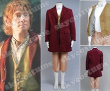 New Arrival The Hobbit Bilbo Baggins Outfit Cosplay.