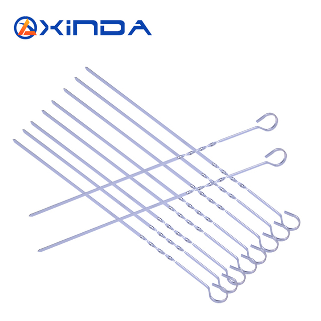 Xinda outdoor BBQ tool bbq sign grill needle stainless steel grill needle prod 10