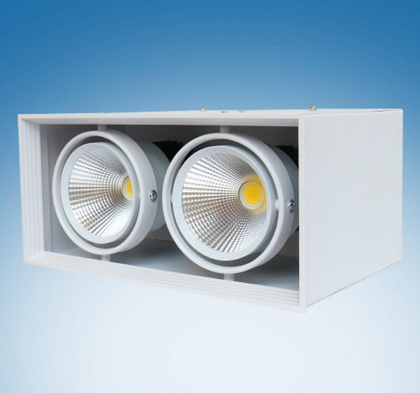 Free Shipping 15W /2x15W Surface Mounted LED Bean Pot Light COB LED Grille Lamp Highlighted LED Bean Gallbladder Lamp(China (Mainland))