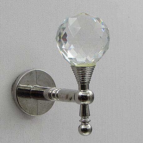 creative fashion glass crystal wall hooks shiny silver cap bag clethese hooks gold home clothes shop decoration hardware hooks(China (Mainland))