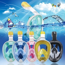 High Quality Diving Mask Snorkel Mask Surface Scuba Easy Breath Full Face Profeesional Accessories Size X/XL NEW(China (Mainland))