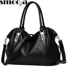SMOOZA Designer Women Handbag Female PU Leather Bags Handbags Ladies Portable Shoulder Bag Office Ladies Hobos Bag Totes(China (Mainland))