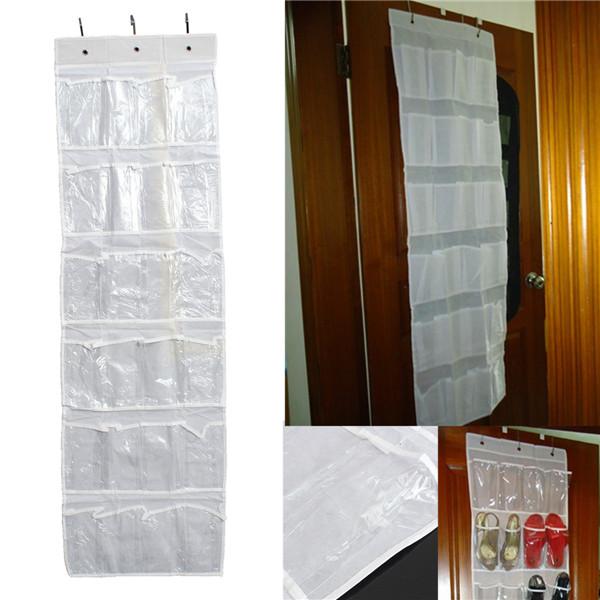 Brand New 24 Pocket Hanging Over Door Holder Shoe Organizer Storage Rack Wall Closet Bag(China (Mainland))