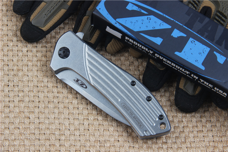 Buy OEM ZT 0801 Flipper Folding Tactical Hunting Knife D2 Blade 60HRC Outdoor Survival Camping Pocket Knife EDC Tool cheap
