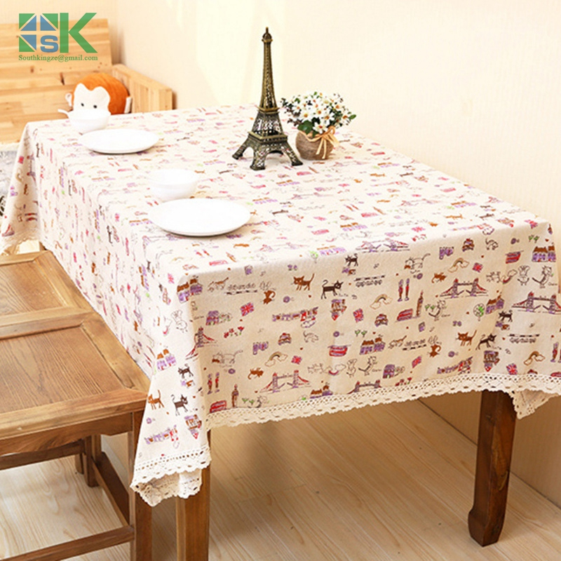 Home decors new Linen tablecloths wholesale multi-use cover cloth towel tablecloth small fresh home decoration table cloth , fre(China (Mainland))