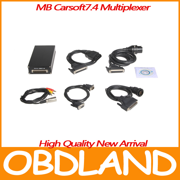 High quality Mercedes Benz Carsoft 7.4 MB Carsoft 7.4 Diagnostic Tool Multiplexer MCU Controlled Interface(China (Mainland))