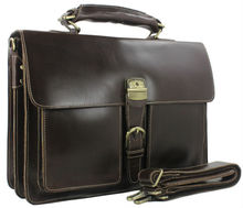 Luxury Genuine Leather Men s Briefcase Leather Business Briefcase 15 laptop Bag Shoulder Bag Men s