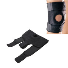 Hot Selling 1 pcs Practical Black Outdoor Travel Adjustable Knee Pad Protector Supportive Steel Springs Firm Support(China (Mainland))