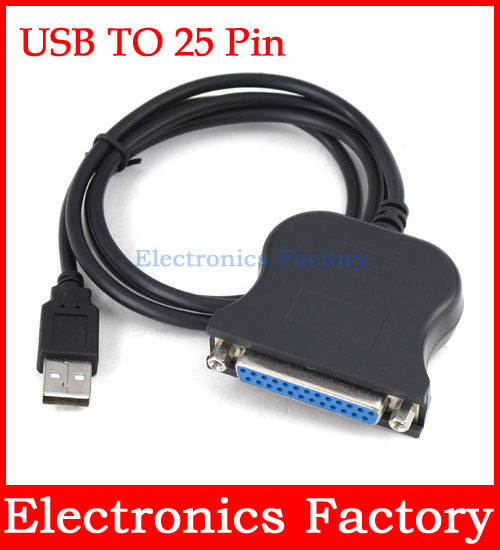 USB TO 25 Pin DB25 PARALLEL 1284 DB25 Rs232 FEMALE PRINTER CABLE ADAPTER IEEE 1284 For Windows Xp(China (Mainland))