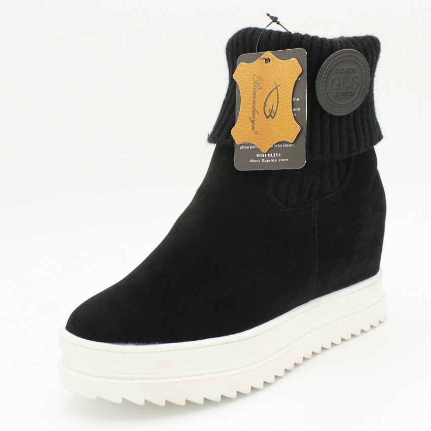 Buy Bimuduiyu Winter Autumn Women Ankle Boots Height Increase Inside Lady All