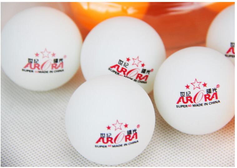 New 200Pcs Super 3-Stars 40mm Olympic Table Tennis Balls Pingpong Balls white free shipping(China (Mainland))