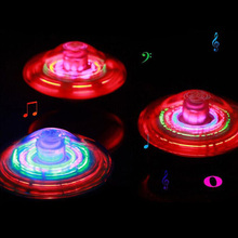 Laser colore della luce flash led giocattolo musica gyro peg-top spinner spinning giocattolo per bambini(China (Mainland))