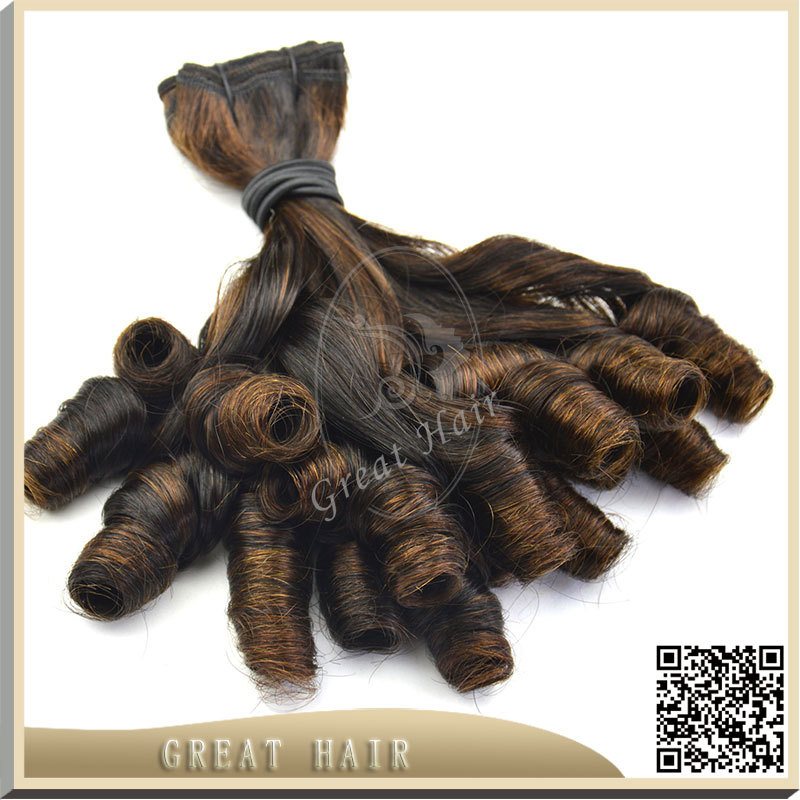 Great Hair Product two tone balck blonde Ombre Hair Extensions 7A 100% Unprocessed loose curly peruvian aunty funmi Hair Weave()