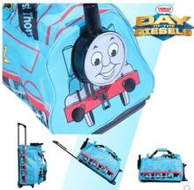 2016 THOMAS Children travelling bag with wheel school bag blue color(China (Mainland))