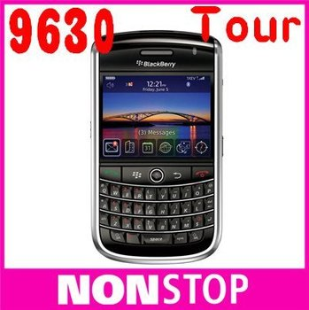 Wholsale Original BlackBerry Tour 9630 GPS 3.2MP JAVA QWERTY Keyboard Unlocked Mobile Phone EMS Free Shipping One Year Warranty