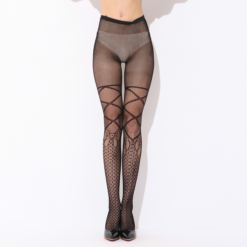 Women Stockings Sexy Mesh Jacquard Tattoo Bottoming Tights Thigh High Silk Stocking Solid Fishnet Pantyhose Night Club Stockings(China (Mainland))
