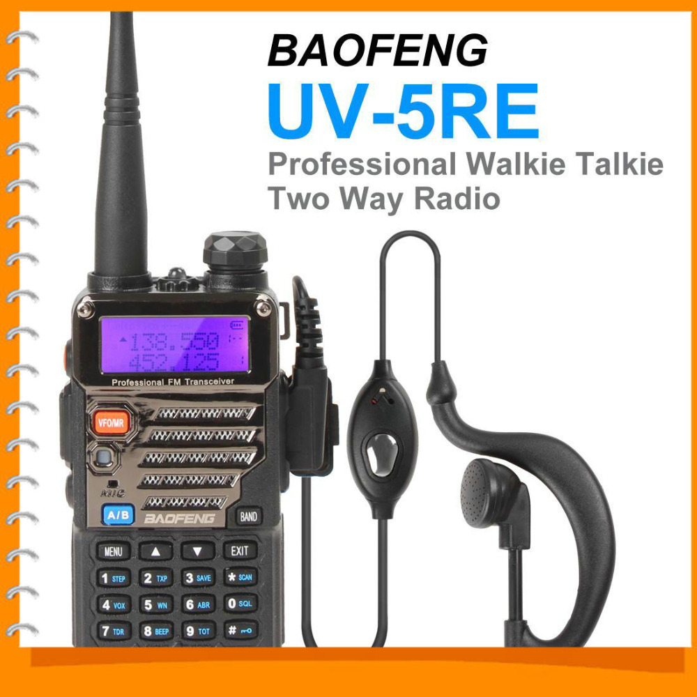 BAOFENG UV-5RE New Version Walkie Talkie Two 2 Way Radio Dual Band Transceiver VHF 136-174 / UHF 400-480Mhz(China (Mainland))