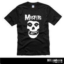 2014 new men's&women's hip-hop punk skull 100% misfits brand cotton short-sleeve T-shirt ax skate marvel bape /bosco /osklen